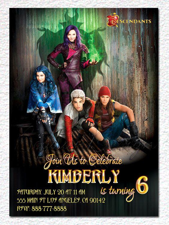 Disney Descendants Birthday Party Invitations And Printables – Printable Disney Birthday Invitations