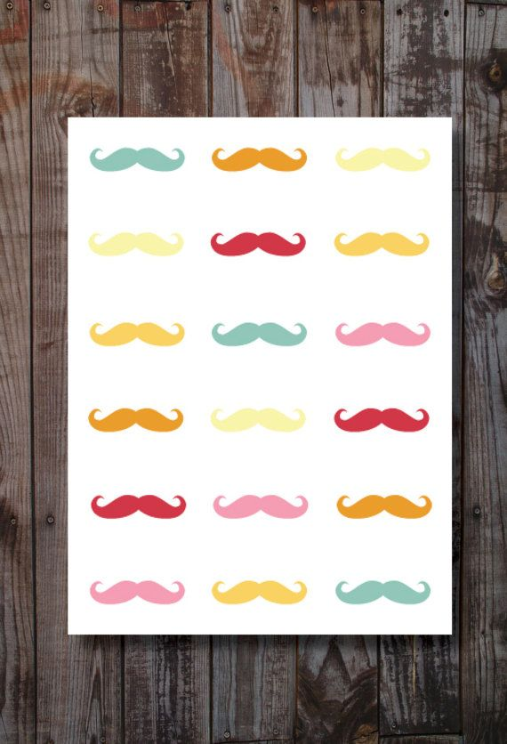 Mustache Home Decor / Print.