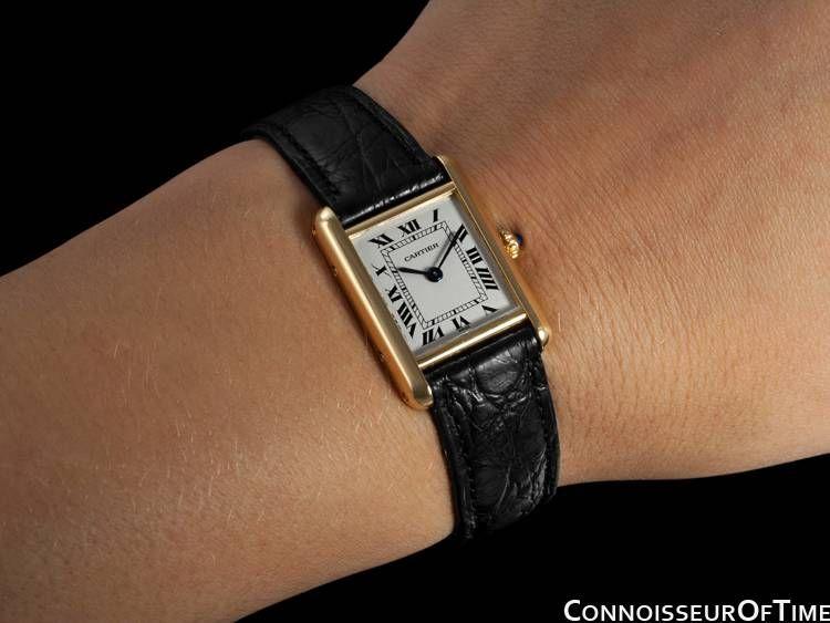 d4560106a499 Vintage Cartier Tank Louis...nice wrist shot.