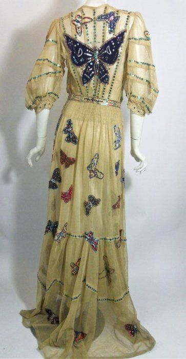 1800s butterfly gown