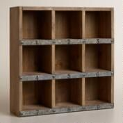 Wood and Metal Owen Numbered Desk Cubby