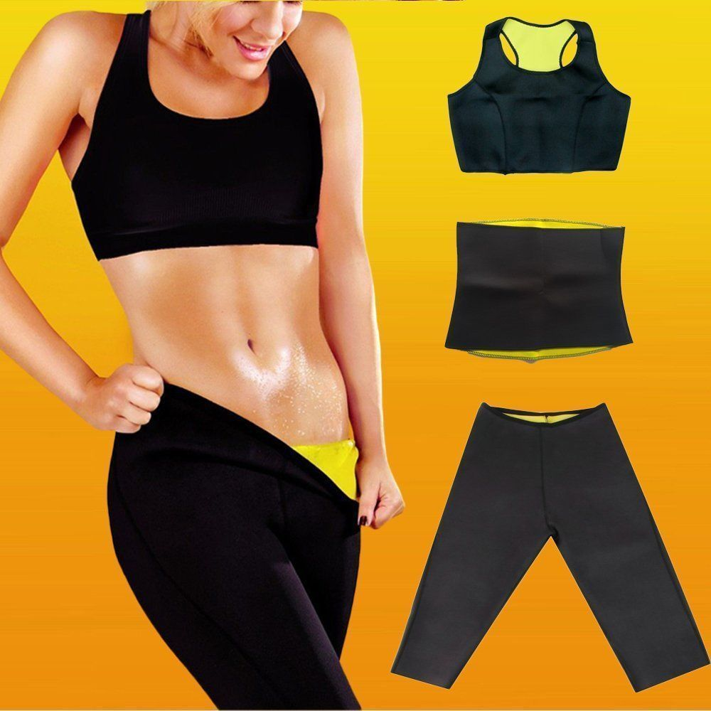 30e90a3be66b4 Hot Neoprene Body Shaper Set Slimming Xtreme Waist Pants Slim Belt Yoga Vest