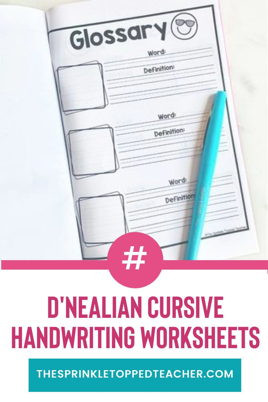 D Nealian Cursive Handwriting Worksheets For Older Students Year Long Handwriting Worksheets Handwriting Practice Worksheets Elementary Reading Activities