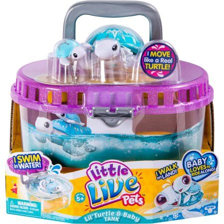 Little Live Pets S4 Lil Turtle Tank Walmart Com Little Live