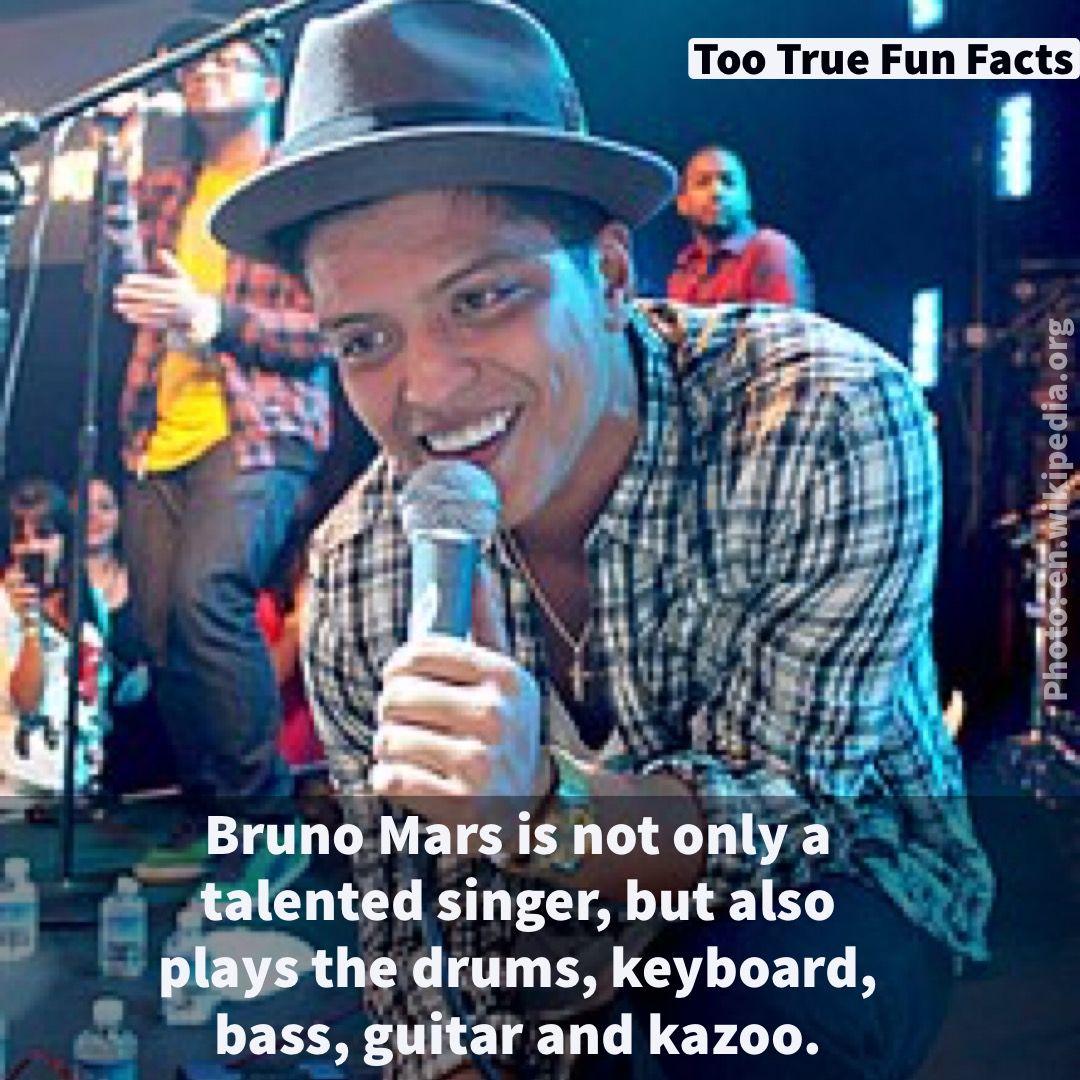 Bruno mars fun fact too true fun fact is your pinterest