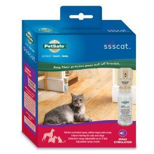 Ssscat Automated Cat Deterrent Spray Motion Activated Air Sprayer 41 99 At Petsmart Com Training Kit Cat Deterrent Spray