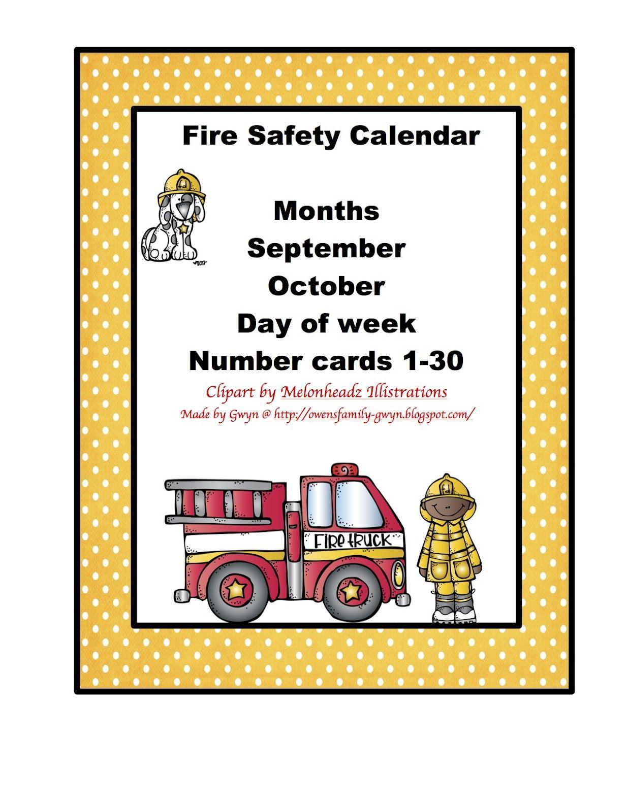 Fire Safety Calendar Fire Safety Preschool Fire Safety Sunday School Preschool [ 1600 x 1236 Pixel ]