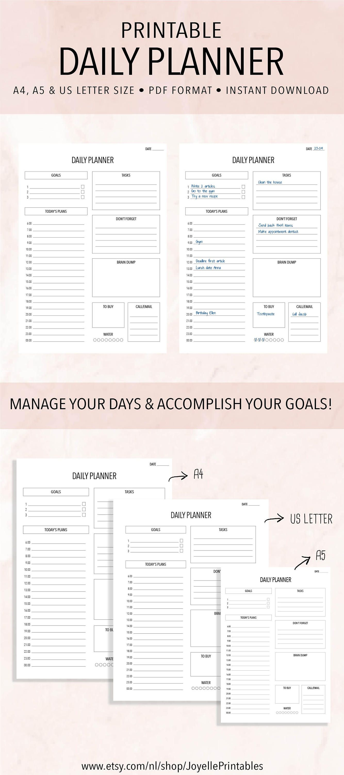 printable daily planner work planner this planner will help you organize your days and