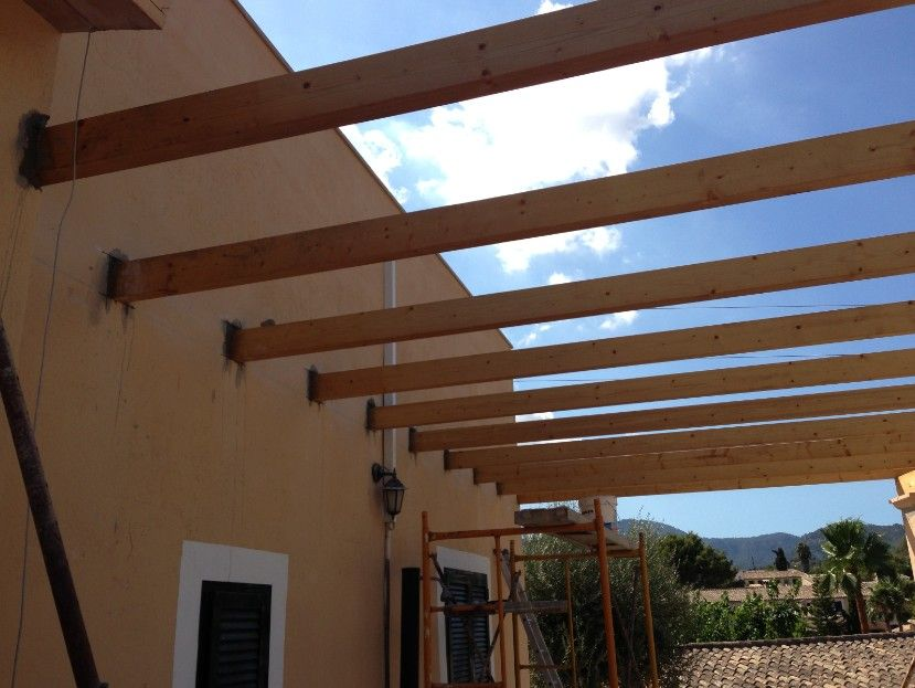 Empezando La Construccion De Un Porche De Obra Construir Un Porche Porche Terraza Casa