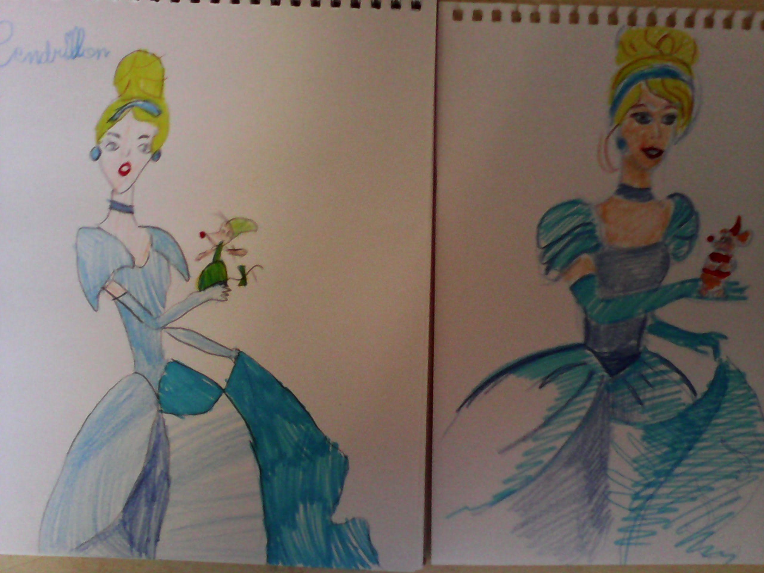Dessiner princesse cendrillon enfants cinderella disney characters princess - Dessiner princesse disney ...
