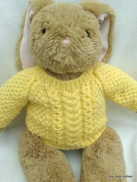 Knitting Clothes For Teddy Bears : Teddy aran sweater toys knitting and patterns