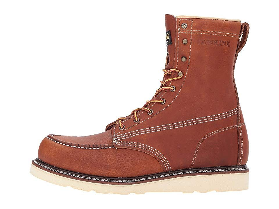 066c6d3b15e Carolina AMP USA Moc Toe Wedge CA7002 Men's Work Boots Tobacco in ...