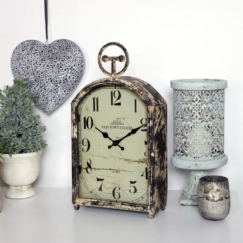 Large Rustic Mantel Clock In 2020 Rustic Mantel Small Clock Clock