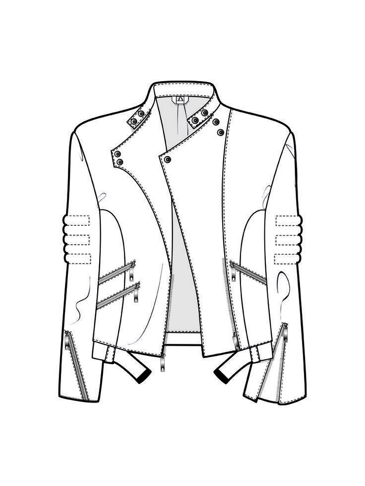 Image result for flats template for a classic moto jacket