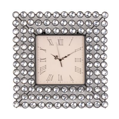 Diamond Bling Wall Clock With Images Square Clocks