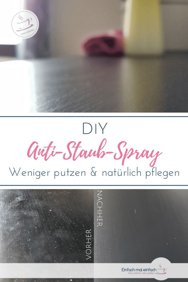 DIY Anti-Staub Spray
