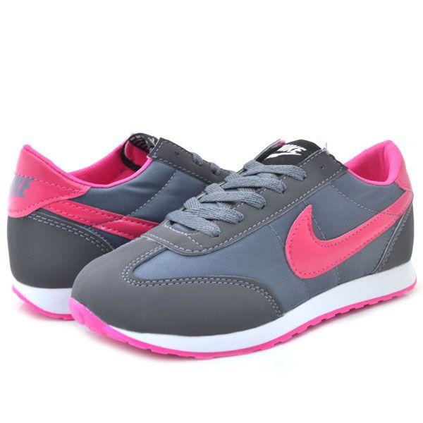 Nike Cortez 5555 Anorak Gri Fusya Bayan Ayakkabi Spor Nike Cortez Nike Nike Kadin