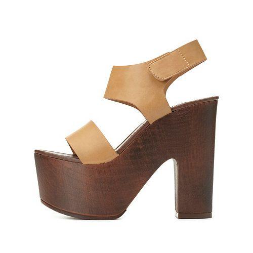 Chunky Platform Sandals: Charlotte Russe