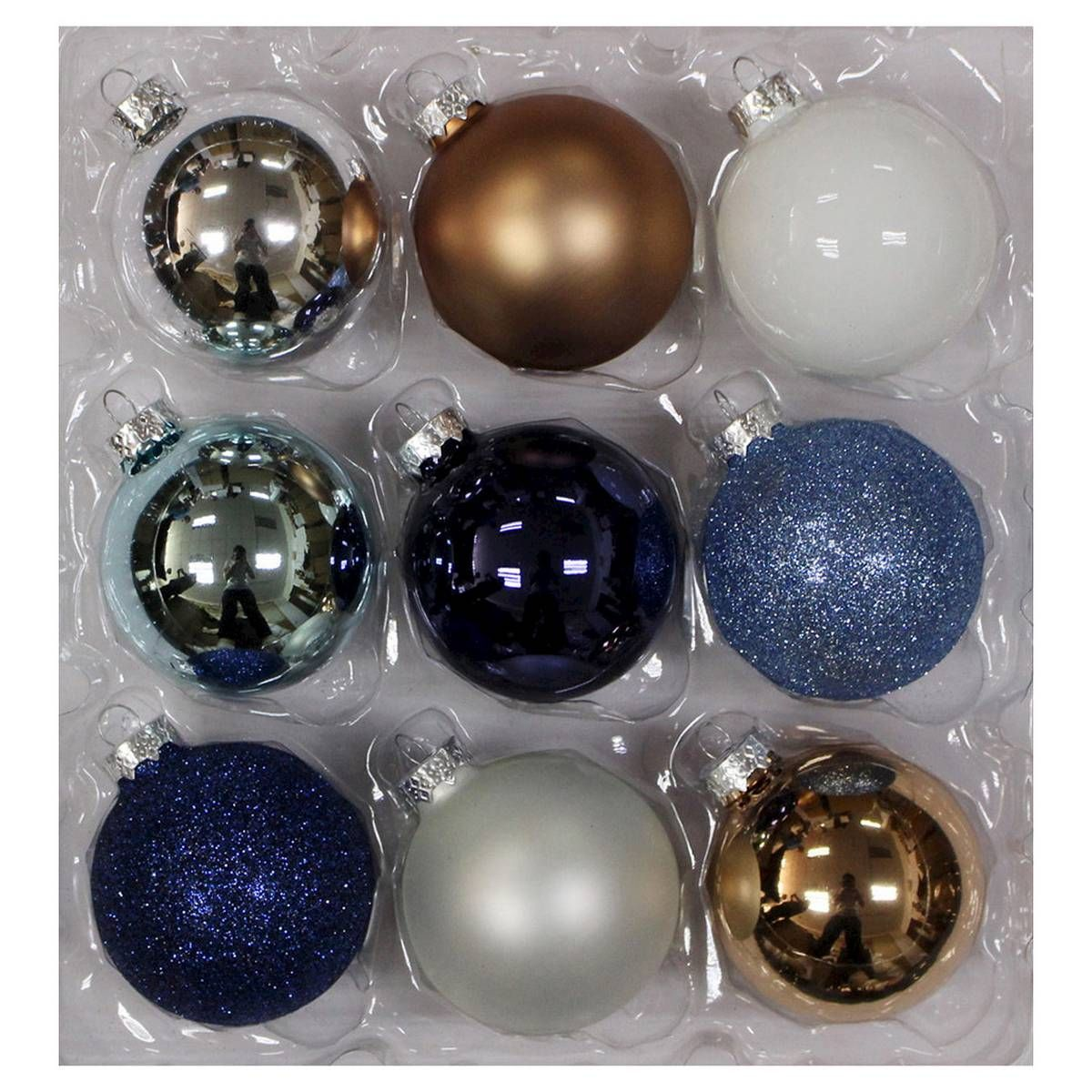 Midnight Blue Metallic Ornaments Christmas Target (With