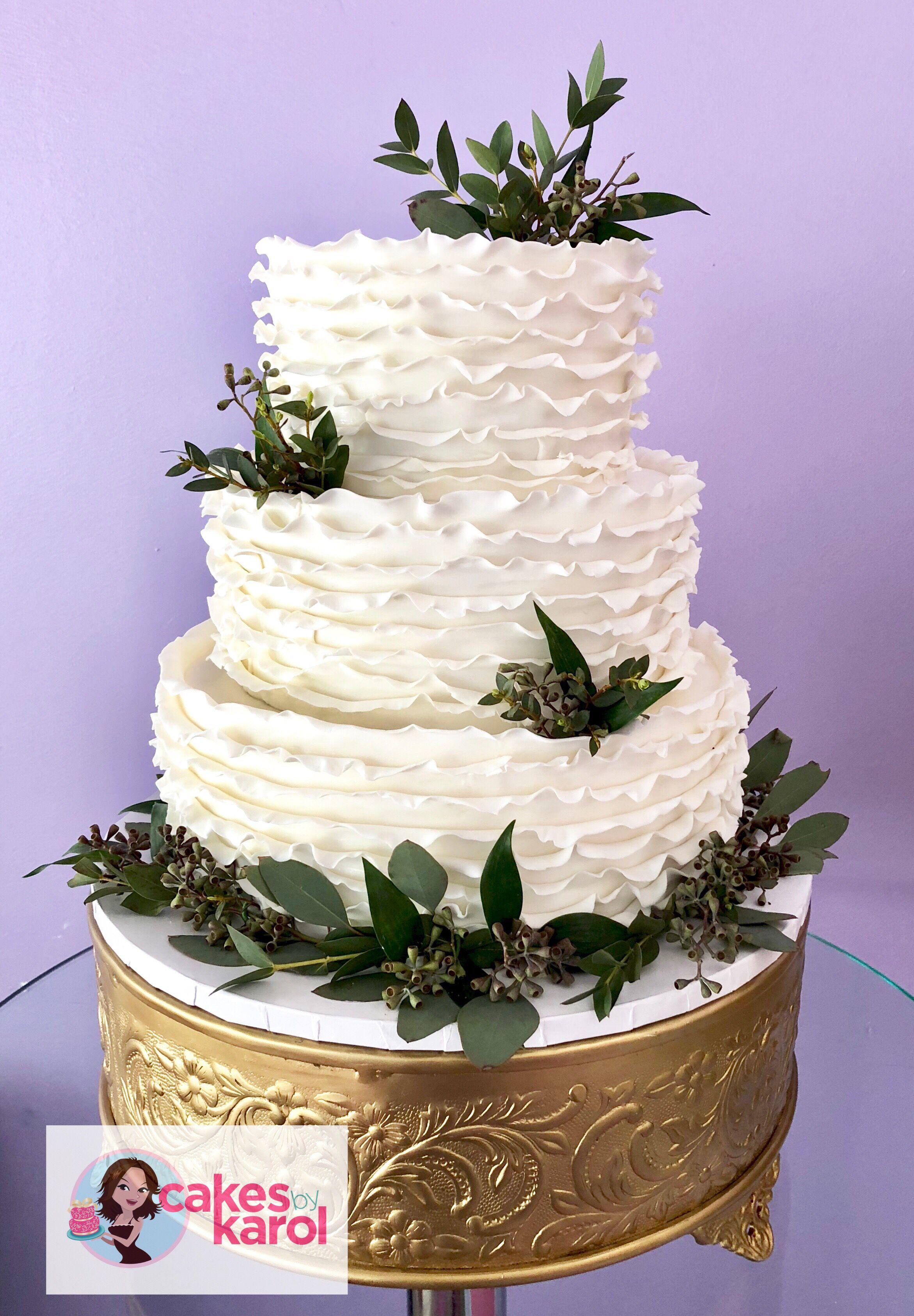 Fondant ruffles wedding cake ruffle wedding cake