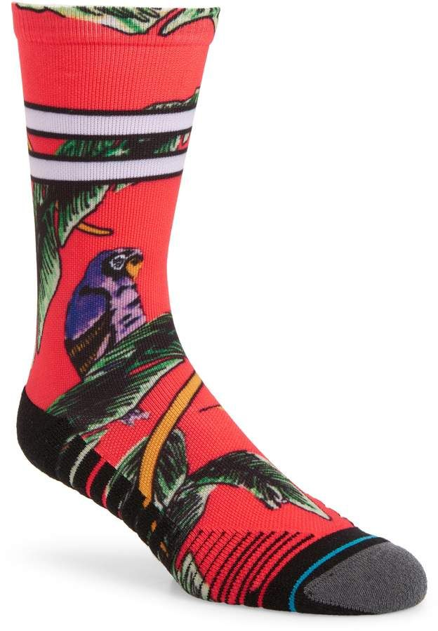 75a1202900b4 Free shipping and returns on Stance Tropicana Crew Socks at Nordstrom.com.  Tropical birds and sporty stripes pair up on cushy performance socks knit  from ...