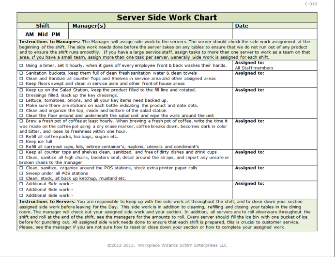 Server Side Work Checklist  Invitation Templates Designsearch