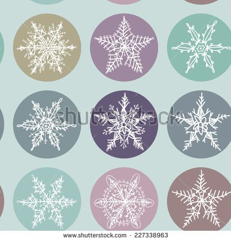 Snowflake winter set icon collection seamless pattern. Vector - stock vector