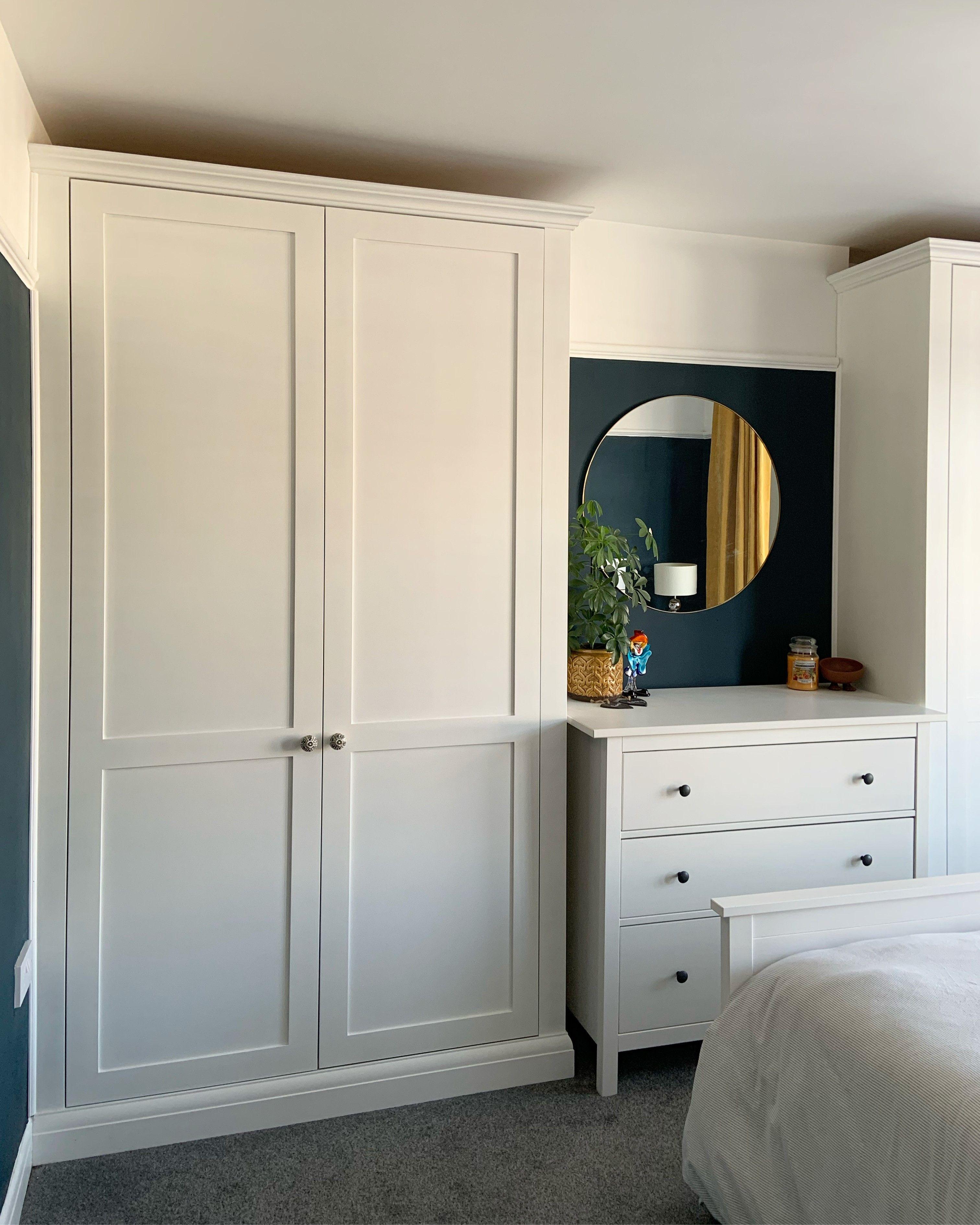 DIY Alcove Cabinet Wardrobes in 2020   Alcove wardrobe ...
