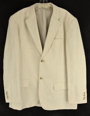 CUBAVERA Mens Beige Herringbone Linen Blend 2 Button Sport Coat ...