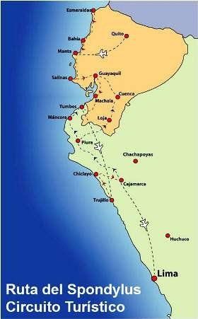 La Ruta Spondylus Ecuador Map Screenshot Map