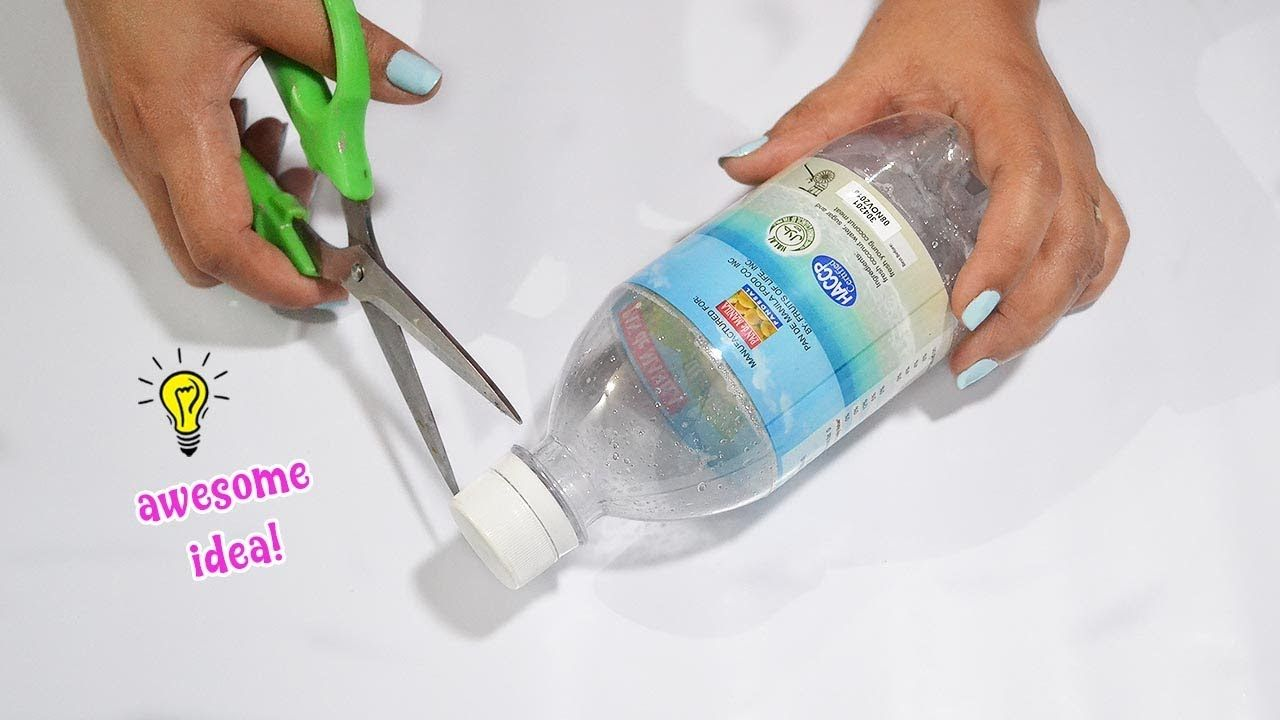 Easy way to reuse plastic bottle craft idea! how to recycle
