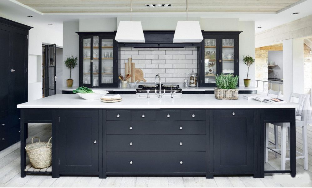 Best Dark Gray Kitchens Charcoal Suffolk Kitchen With White 640 x 480