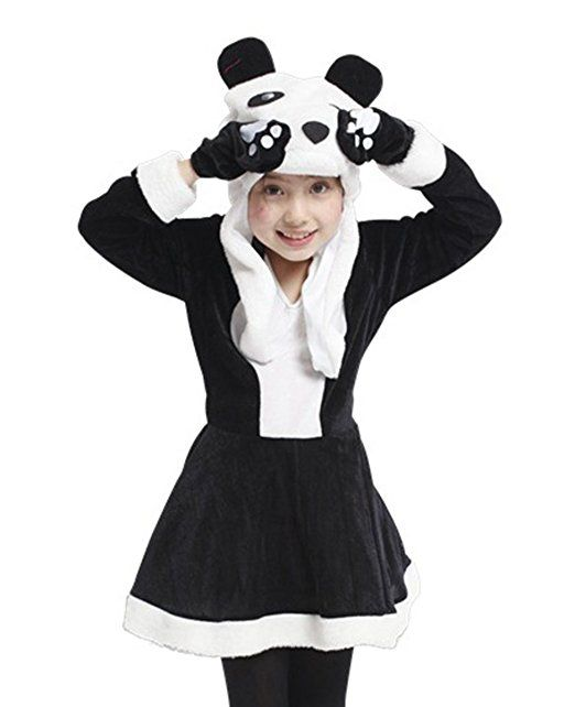 happy cherry kinder m dchen niedliche panda cosplay kleid. Black Bedroom Furniture Sets. Home Design Ideas