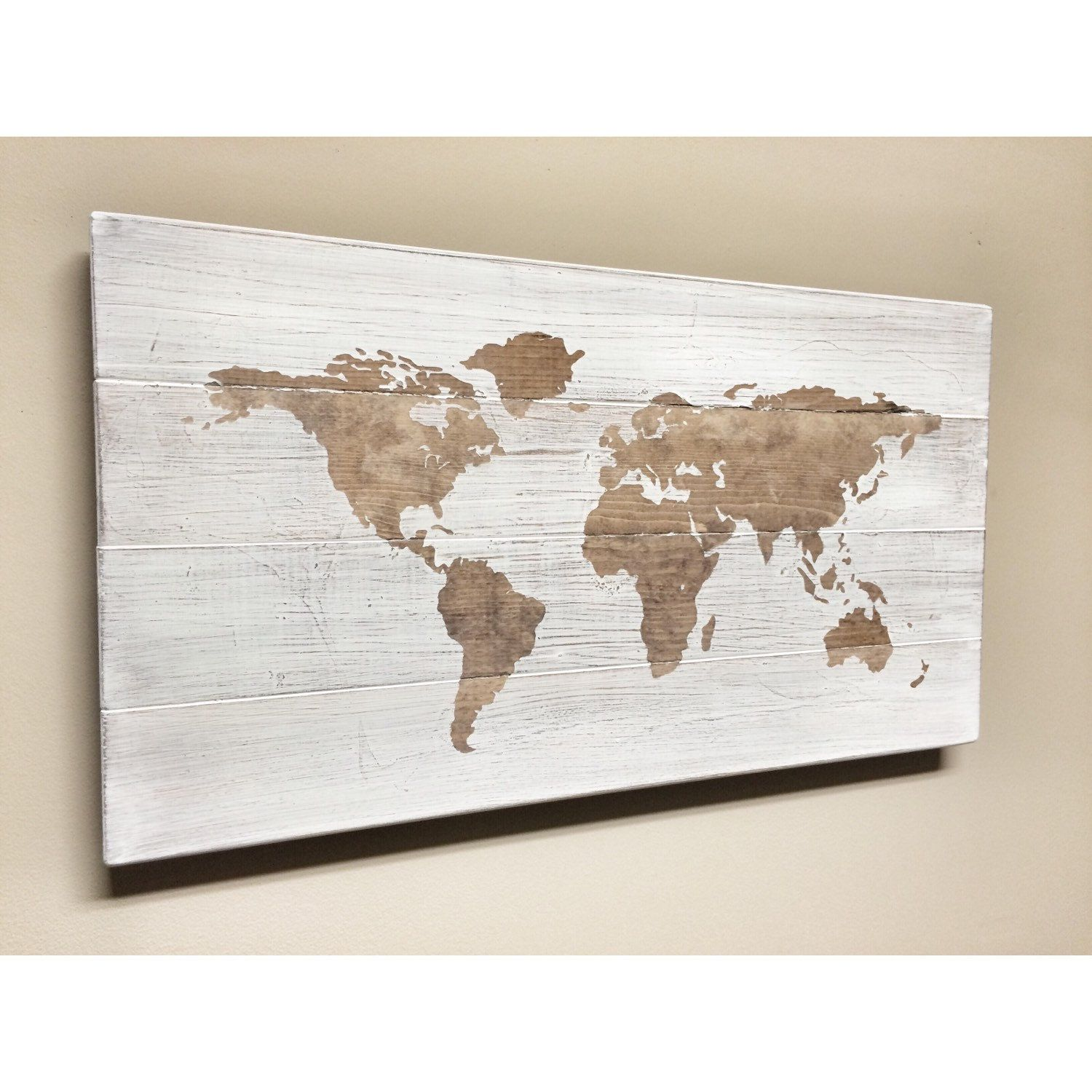 Rustic wood world map rustic decor farmhouse decor rustic nursery rustic wood world map rustic decor farmhouse decor rustic nursery decor wall gumiabroncs Gallery