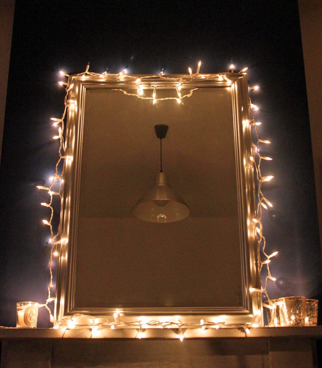 Image Result For Fairy Light Around Mirror Lights Around Mirror