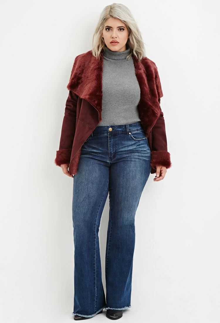 Plus Size Frayed Flare Jeans | Forever 21 PLUS #forever21plus ...