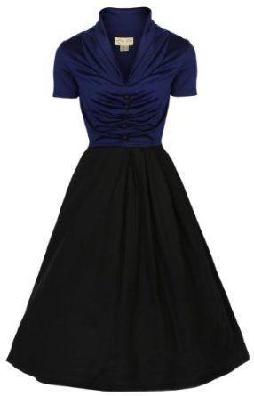 Amazon.com  Lindy Bop Women s Elsa Classy 1950 s Rockabilly Swing Jive  Shirt  Clothing bca4c1da75e