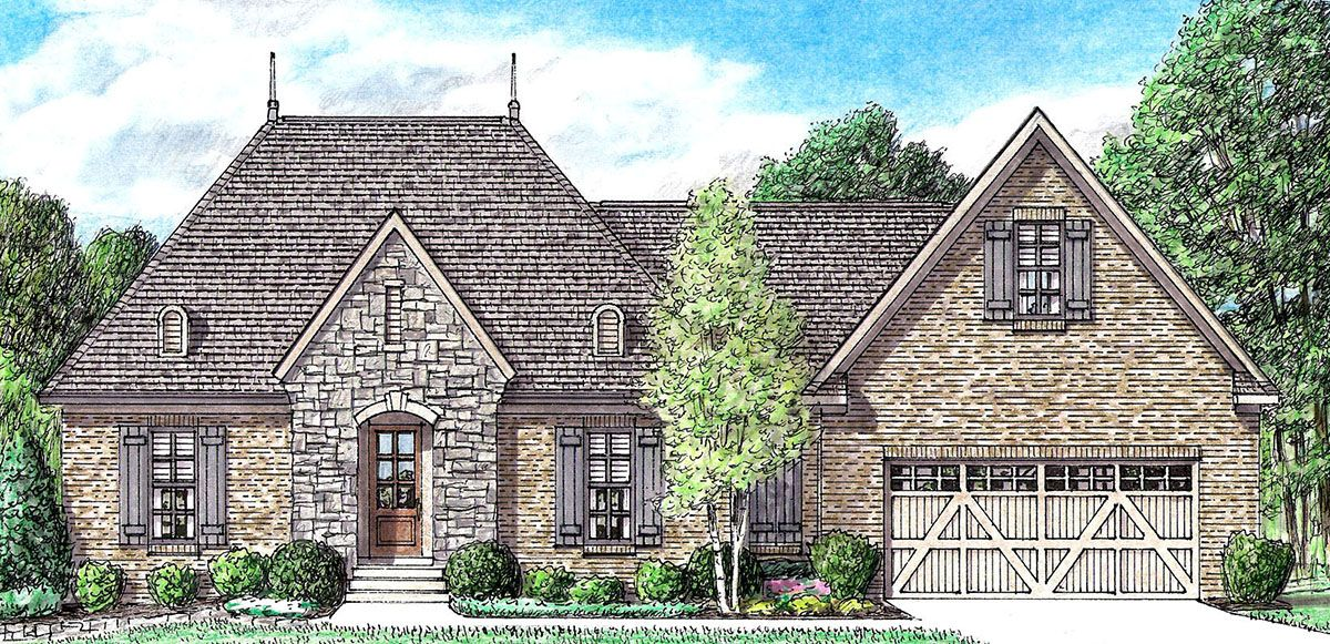 Plan 94037ch Charming European Cottage Country Style House Plans Cottage Style House Plans Country Cottage Decor