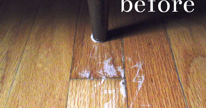 how to fix dog scratches on wood floor