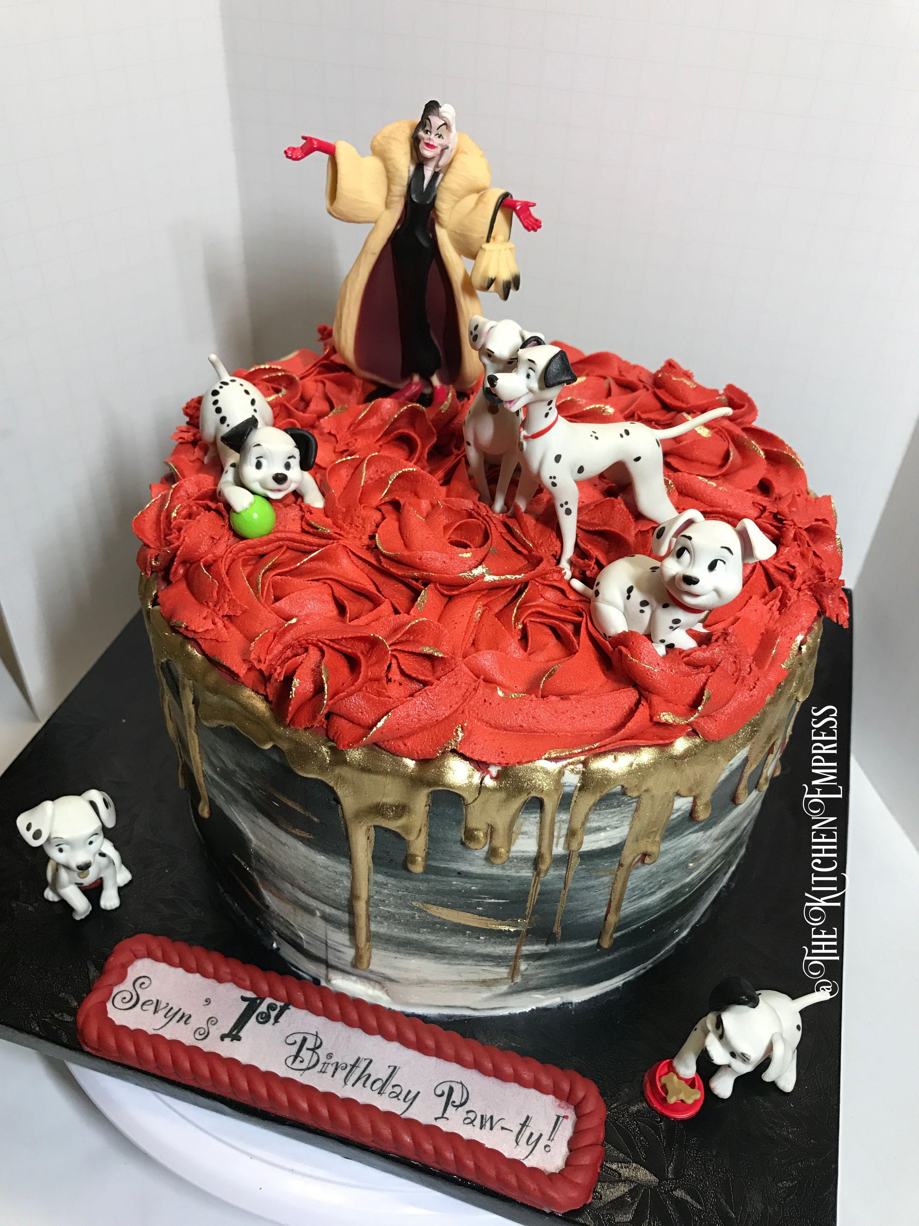 101 Dalmations Buttercream Cake Buttercream Cake Cake Butter Cream