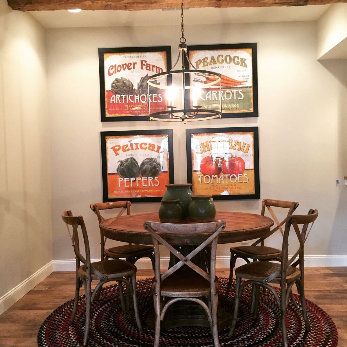 A great look with fabulous oversized art!