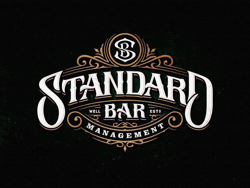 Standard Bar Vintage Logo Design Text Logo Design Logo Design