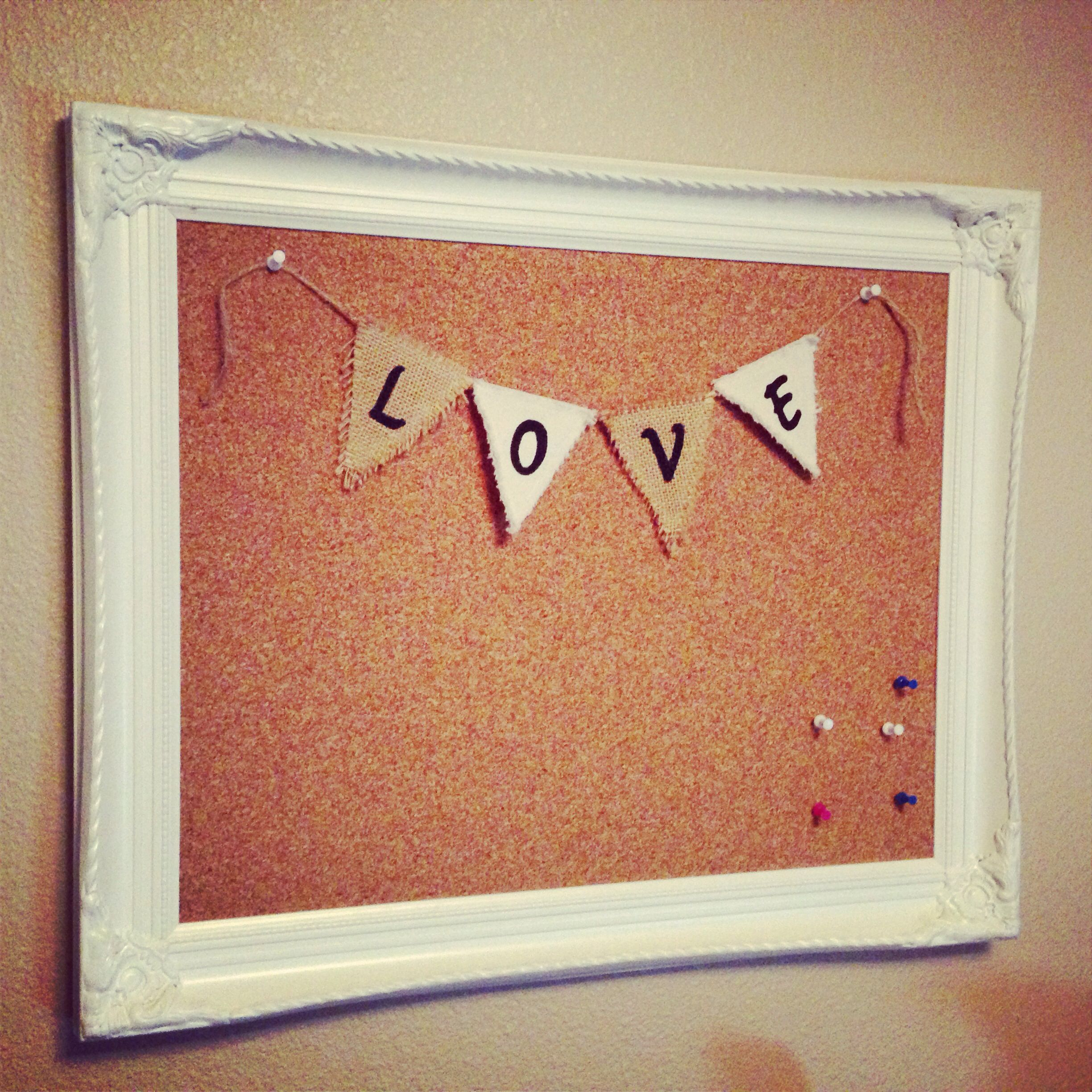 DIY cork board - empty frame, foam board and a roll of ...