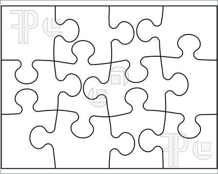 Giant Puzzle Pieces Template Puzzle Template Printable