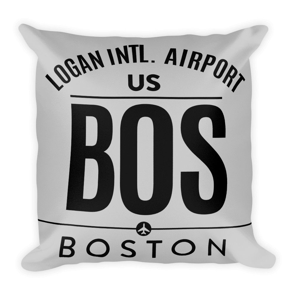 BOS - Airport Code Pillow