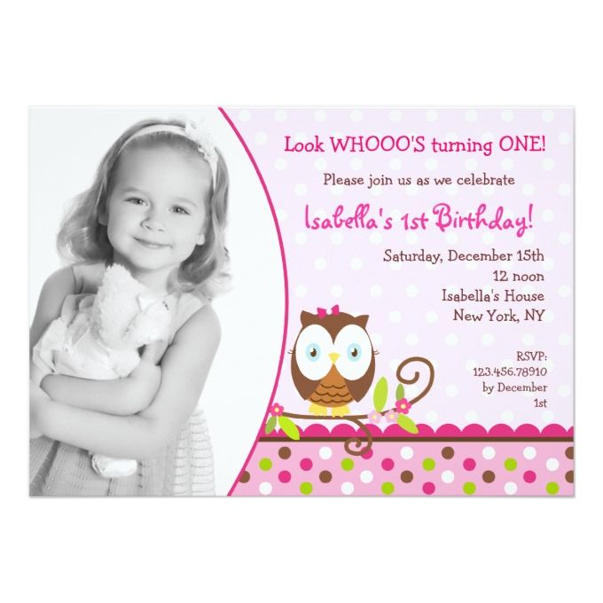 Owl Birthday Invitations 5 - invitation card for ist birthday