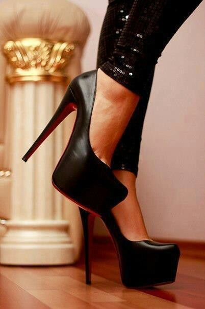 3d0649a254b High heels black red bottom christian louboutin This Heels Are A Must Have  Love It