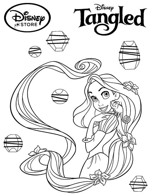 Disney Princess Coloring Pages Rapunzel Tangled Princess