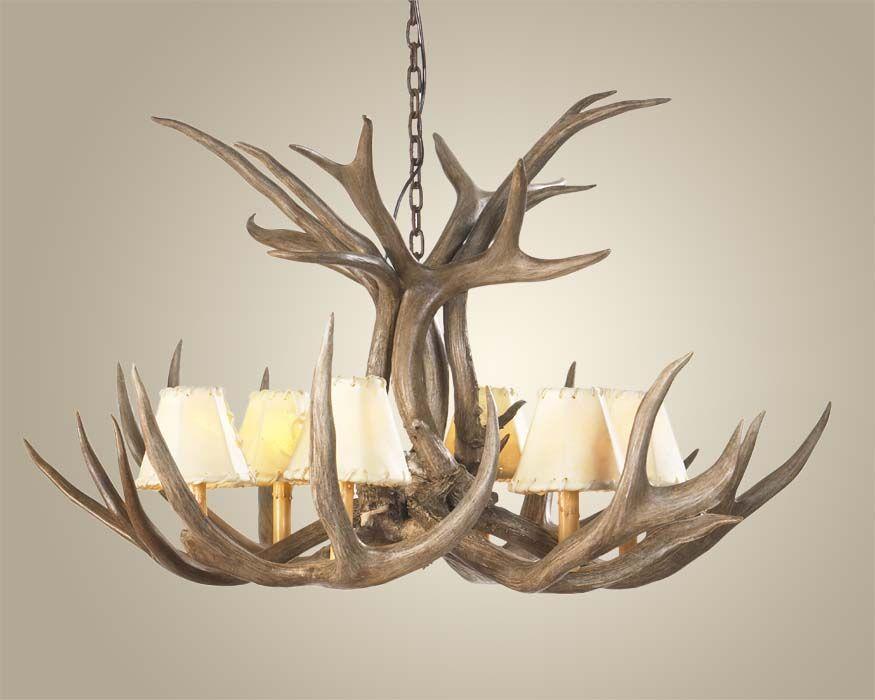 Mule deer antler chandelier antler chandeliers for the home mule deer antler chandelier antler chandeliers mozeypictures Images