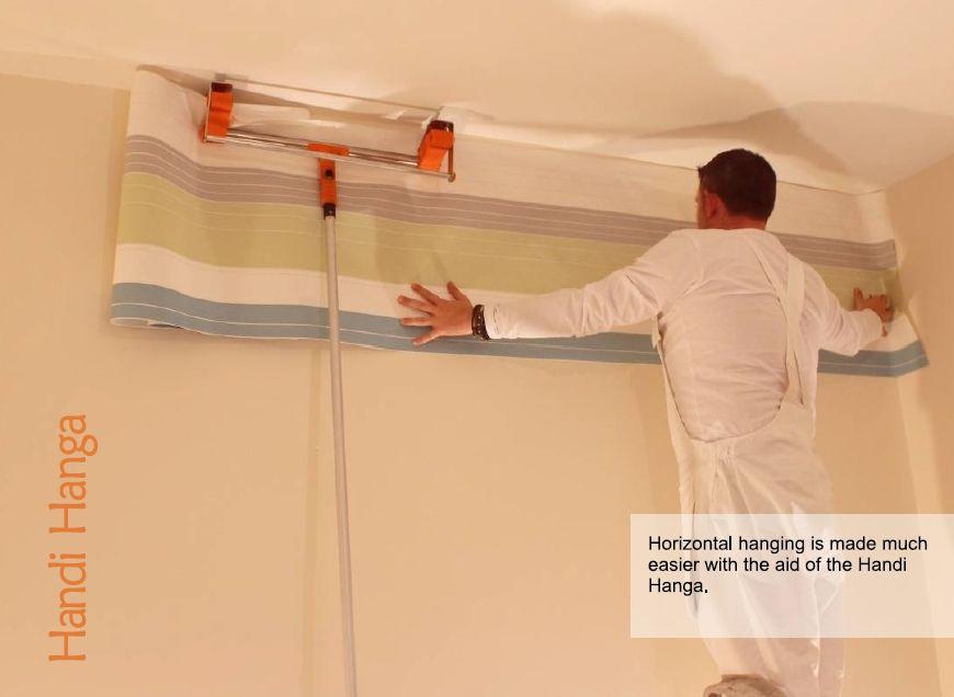 Tool That Allows Easy Hanging Of Wallpaper Horizontally Handi Hanga Product Hanging Wallpaper Easy
